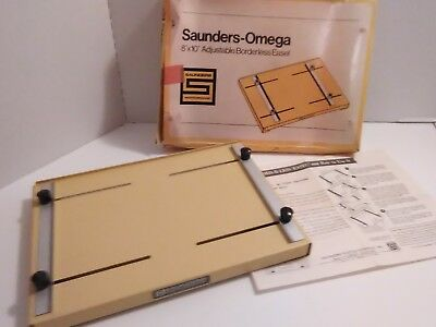 "Saunders-Omega 8"" x  10"" Adjustable Borderless Easel BL 810"