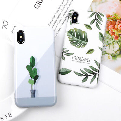 For iPhone X 6 6S 7 8 Plus New Fashion Cactus Leaf Soft Shockproof Phone Case