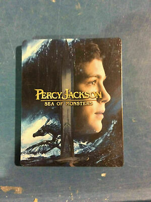 Percy Jackson: Sea of Monsters - Ltd. Edition Steelbook [3D+Blu-ray] AS IS!!(g)