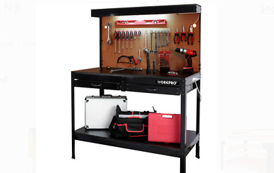 Workbench with Work Light Garage Bench Home Workshop Craftsman Tools Table NEW