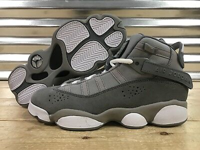 8e2ef43b989397 Nike Air Jordan 6 Rings Concord BG GS Shoes Matte Silver Grey White (323419-