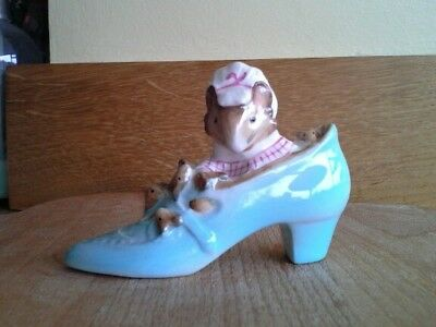 Beswick Beatrix Potter OLD WOMAN IN SHOE BP2 Gold Backstamp