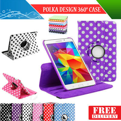 360 Degree Rotation Smart Leather Stand Case Cover For Apple iPad Air 2 Polka
