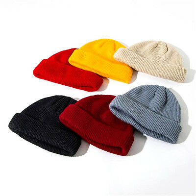 4a70eb7be95 1pc Unisex Men Women Beanie Hat Warm Ribbed Winter Turn Ski Fisherman  Docker Hat
