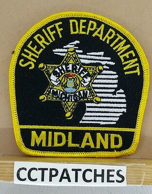 Midland County, Michigan Sheriff (Police) Shoulder Patch Mi