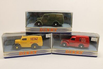 1/43 Matchbox The Dinky Collection Lot De 3 Voitures Ford Van