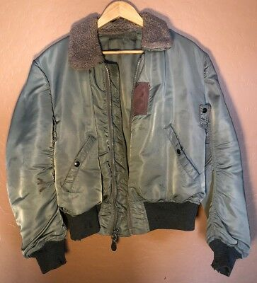 Vintage WWII USAAF Flight Jacket Bomber Army Air Force With Gloves Men's M