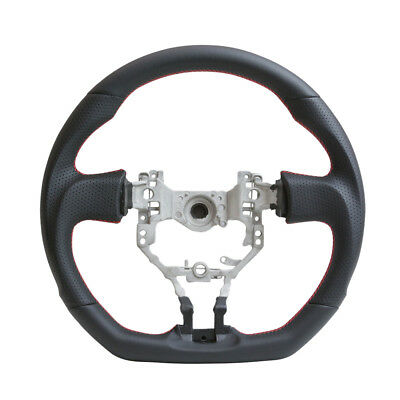 Handkraftd Steering Wheel For 13-17 FRS BRZ 86 D Flat Bottom Black w/Red Stitch