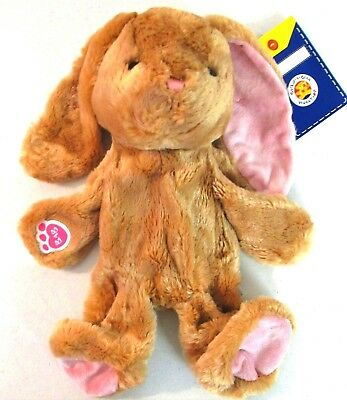 "Pawlette Build a Bear Brown & Pink ears Bunny 15"" unstuff NWT Doll Bunny []"