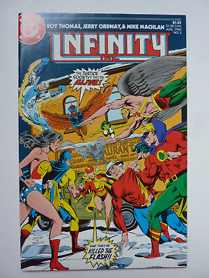 Infinity Inc 5 - Issue with Uneditied Nude Wonder Woman Panels - Very High Grade
