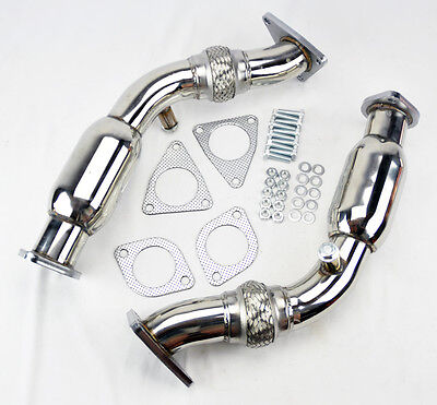 Test Pipes Decat Cat less Resonated Flex Exhaust FITS Nissan 370z Infiniti G37