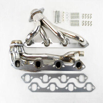 Ford F150 F250 Bronco 87-96 5.8L V8 Shorty Stainless Exhaust Manifold Headers