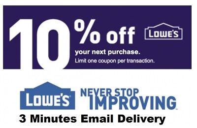 Five 5x Lowes 10% OFF5Coupons-InStore and Online----EXP 9/30/18-Fastest Delivery