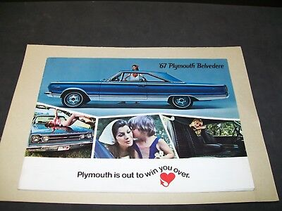 Vintage Chrysler Corporation  1967 Plymouth Belvedere (All Models) Brochure