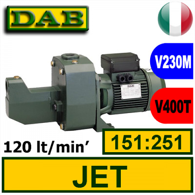 Self-Priming Water Pump in Cast-Iron DAB JET 151 M  1,5HP 240V