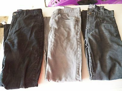 Boys Size 16 Jeans Lot 3 Pair - Corduroy H&M Levi's Chaps Black Gray GUC