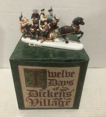 Dept 56 Dickens Village Twelve Drummers Drumming - Twelve Days Of Christmas Iob