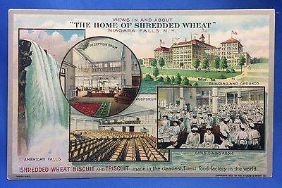 1912 SHREDDED WHEAT Niagara Falls CEREAL Advertising POSTCARD Original Antique