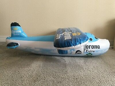 Corona Extra Beer Inflatable Jumbo Jet Airplane - Over 3 Feet Long!