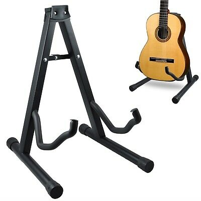 G4Rce Folding Foldable A-Frame Music Guitar Floor Stand Electric Acoustic Bass