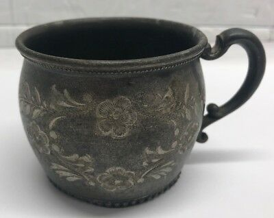 Vintage Silver Plate Providence Silverplate Co. Quadruple Plate Cup Stamped 614