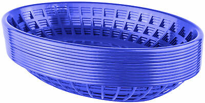 Bear Paw Products Plastic Deli Baskets - Perfect for Food - 12 Pack, Blue