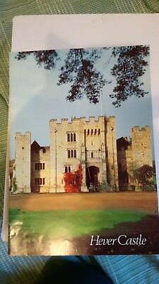 Hever Castle Tour Guide Brochure English History Book Booklet Colour UK