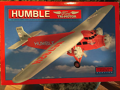 HUMBLE FORD TRI-MOTOR DIE-CAST METAL REPLICA AIRPLANE (with stand)