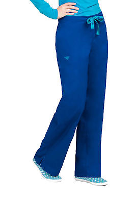 Med Couture Women's 8705 Pant-Galaxy/Jamaican Blue