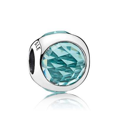 Authentic Pandora Sterling Silver Radiant Droplet, Icy Green Crystals 792095NIC
