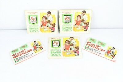 S&H Green Stamps Vintage Quick Saver Books Stamps Sperry Hutchinson Company Lot