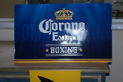"CORONA EXTRA - BOXING - METAL BEER Sign - Preowned - 14 1/2""X 24"" Man Cave / Bar"