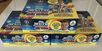 Match Attax Champions League 17/18  3 Displays Booster Trading Cards
