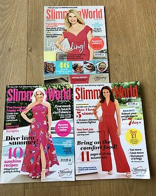 SLIMMING WORLD MAGAZINES- March/April 18, Aug/Sept 18, Oct 18