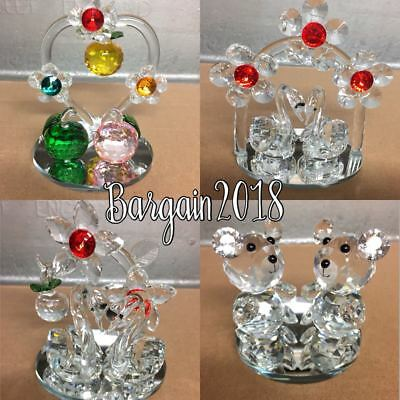 Crystal Cut Swans/tedy/apple Swarovski Elements Wedding / Birthday Gift With Box