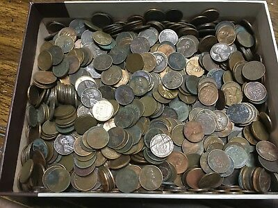 Lot of 1000+ Cull Wheat Pennies Cents - 10's, 20's, 30's, 40's & 50's guaranteed