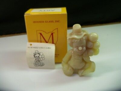 Arty Mosser Clown Collectible Figurine With Box - Custard Glass