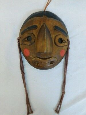 Japanese Hand Carved Wood Mask Theater