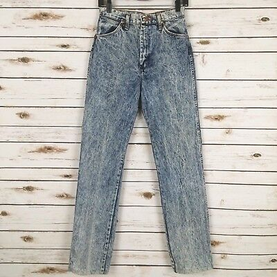 Vintage 80s Wrangler Womens Jeans Acid Wash High Waist *READ* Size 11