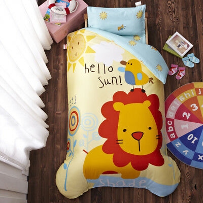 Lion Animal New Baby Boy Girl Crib Cot Set Quilt Cover Padded Cotton Nursery