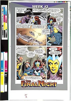 The Final Night ~ Superman Batman Rare Pre-Press Matchprint Proof Interior Page