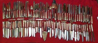 Lot of 100 Vintage Silverplate Knives Flatware/ Perfect for Crafts!!!  #5017