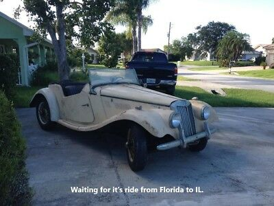 1955 MG T-Series leather 1955 MG TF 1500, Solid, Straight Runs and Drives, Florida Garage Find