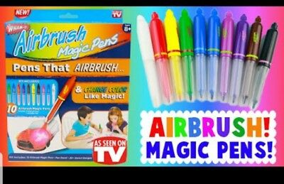 Wham O As seen on TV Airbrush Magic Pens Art Supply Kit