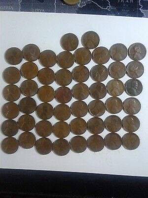 1 roll of 1924 wheat pennies with 14 s mints real nice coins