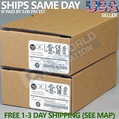 2018 *new Factory Sealed* Allen Bradley 25-Comm-E2P /a Ethernet/ip Comm Adapter