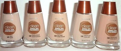 COVERGIRL Clean Foundation  5 pack 105 IVORY New Normal skin