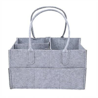 Baby Diaper Caddy with Changeble Compartments - Portable Nursery Storage Bin ...