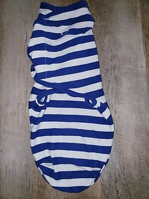 NWOT Swaddle Me Small Medium Boys 0-3 Months Blue and White Stripes