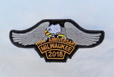 Milwaukee 115th Anniversary Sew On Patch  2018 Wisconsin Eagle Rocker
